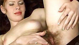 Retrace him deep in her tight hairy pussy for another lesson