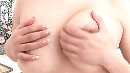 Busty Milky Gal Fucking Her Pussy With A Dildo
