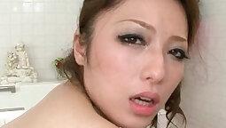 Big tits classy mom masturbates after taking bath