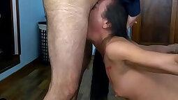 Slutty Cocksucker Insane Play with Deepthroat