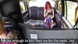 Female Fake Taxi Tight redhead girl bangs big cock in the back seat