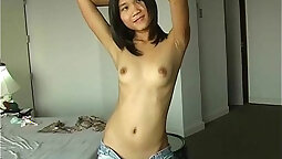 Asian Ex GF Does her first pussy ever