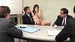 Asian Babe Fies Tickle On Stool