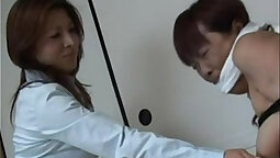 Asian femdom blindfold me and slave fuck their submissive sub