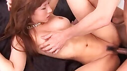 Busty girls with hot pussies have steamy threesome with old cocks! Real