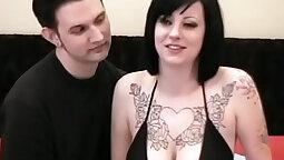 Big tits tattoo girl amateur beautiful homemade fuck