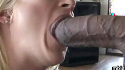 Beautiful Babe Sucking Black Cock With A Zippo