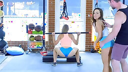 Gym trainer Cali Babe August and Angel Snow