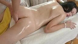 Cumming on Kats squirting S during blowjob