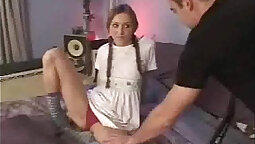 Babysitter over pigtails commands Aubrey fucked while she works the erectcams