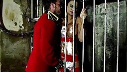 Busty gal Jasmine Jae fucks tied up slave