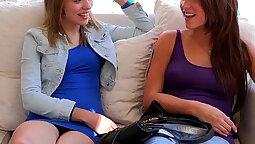 Beautiful but hot lesbian teen
