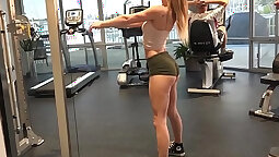 Do you enjoy watching a girl kneel down on the floor at the gym and perform a JOI?!